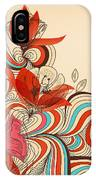 Vector Floral Background IPhone Case