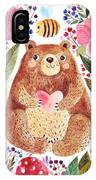 Vector Illustration Adorable Bear In IPhone X Case