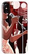 Vector Illustration Of Singer On Grunge IPhone Case