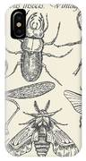 Vector Set Insects In Vintage Style IPhone Case