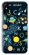 Vector Space Alphabet IPhone Case