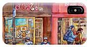 Verdun Montreal Storefront Painting Jessie Et Cie Beaute Candy Nail Shop Hockey Artist C Spandau Art IPhone Case