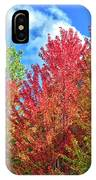 Vibrant Autumn Hues At Cornell University - Ithaca, New York IPhone Case