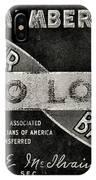 Vintage Associated Master Barber Sign Black And White IPhone Case
