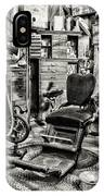 Vintage Dentist Office And Drill Black And White IPhone Case
