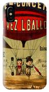 Vintage Hot Air Balloon IPhone Case