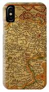 Vintage Map Of Belgium And Flanders IPhone Case