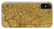 Vintage Map Of Montana IPhone Case
