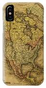 Vintage Map Of North America 1858 IPhone Case