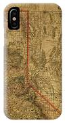 Vintage Map Of Northern California IPhone Case