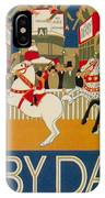Vintage Poster - Derby Day IPhone Case