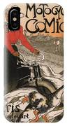 Vintage Poster - Motocycles Comiot IPhone Case