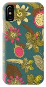 Vintage Seamless Tropical Flowers With IPhone Case
