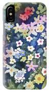 Watercolor - Alpine Wildflower Design IPhone Case