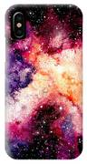 Watercolor Background With Outer Space IPhone X Case
