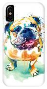 Watercolor Bulldog IPhone X Case