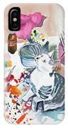 Watercolor - Kitten On My Painting Table IPhone Case
