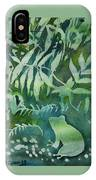 Watercolor - Tree Frog Design IPhone Case by Cascade Colors
