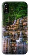 Waterfall At Top Of The Rock IPhone Case by Allin Sorenson