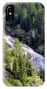 Waterfall In The Mountains. IPhone Case