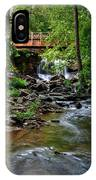 Waterfall With Wooden Bridge IPhone X Case