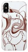 Weeping Woman With Prayer Beads IPhone Case by Anthony Falbo