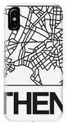 White Map Of Athens IPhone X Case