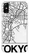 White Map Of Tokyo IPhone Case