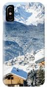Winter Landscape On The Italian Dolomites IPhone Case