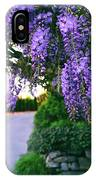 Wisteria At Sunset IPhone Case