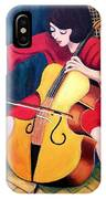 Woman Playing Cello - Bereny Robert Study IPhone Case