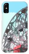 Wonder Wheel On Blue IPhone Case