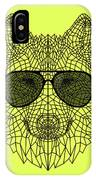 Woolf In Black Glasses IPhone X Case
