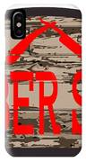 Worn Barber Shop Wooden Store Sign IPhone Case