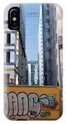 Yellow Graffiti Truck Downtown La IPhone Case