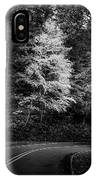 Yellow Tree In The Curve In Black And White IPhone X Case