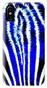 Zany Zebra II IPhone Case