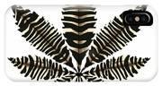 Zebra Pattern Marijuana Leaf 2 IPhone Case