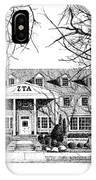 Zeta Tau Alpha Sorority House, Purdue University, West Lafayette, Indiana, Fine Art Print IPhone Case