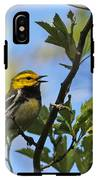 Black-throated Green Warbler IPhone X Tough Case