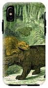 Iguanodon Biting Megalosaurus IPhone X Tough Case