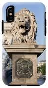 Lion Sculpture On Chain Bridge In Budapest IPhone X Tough Case