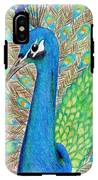 Peacock IPhone X Tough Case