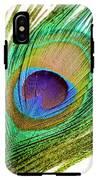 Peacock Feather IPhone X Tough Case