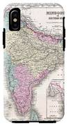 1855 Colton Map Of India IPhone X Tough Case