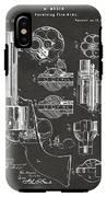 1875 Colt Peacemaker Revolver Patent Artwork - Gray IPhone X Tough Case
