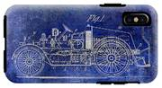 1916 Automobile Fire Apparatus Patent Drawing Lt Blue IPhone X Tough Case