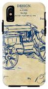 1919 Henry Ford Tractor Patent Vintage IPhone X Tough Case