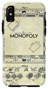 1935 Monopoly Patent Drawing IPhone X Tough Case