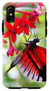 Butterfly On Red Bush IPhone X Tough Case